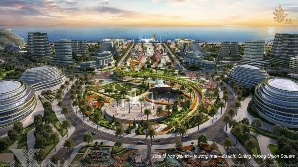 quảng trường trung tâm kn paradise